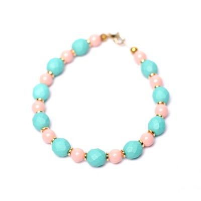 Blue and pink beaded bracelet Marvellous Marmalade