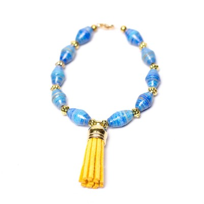 Blue beaded bracelet Marvellous Marmalade