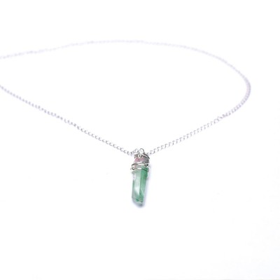 Silver handmade crystal necklace Marvellous Marmalade